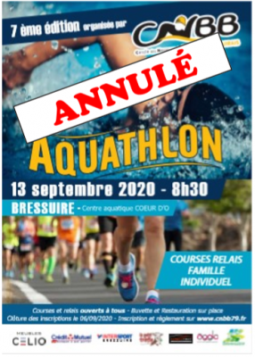 Annulation de l'Aquathlon 2020